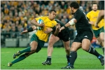 Kurtley Beale for the Wallabies against the All Blacks