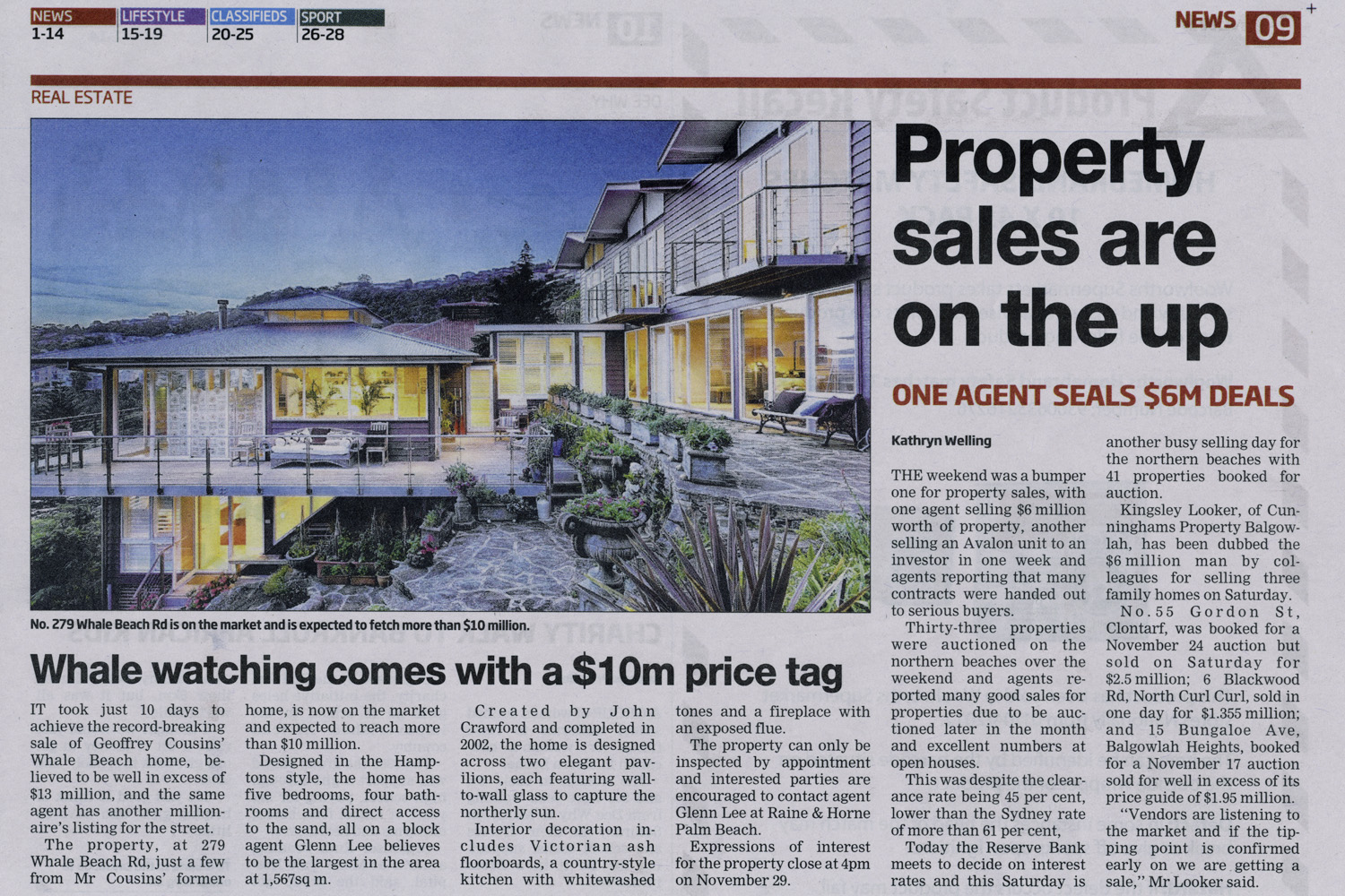 Manly daily real estate